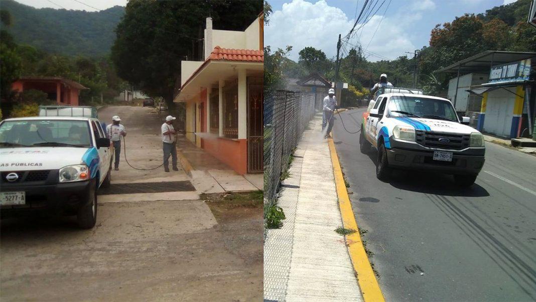 sanitizacion de calles en ixtaczoquitlán