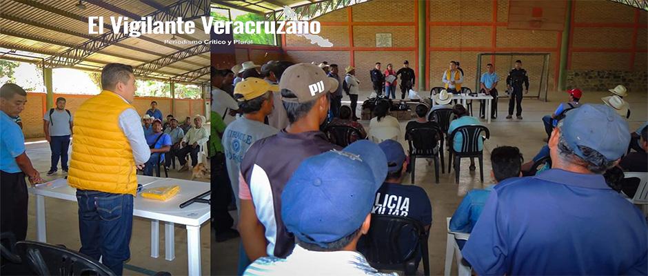 capacitación y equipamiento a policías comunitarios en zongolica