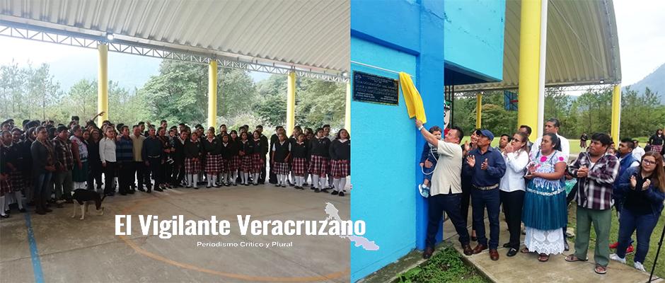 inauguran domo escolar en teba de ixhuatlancillo