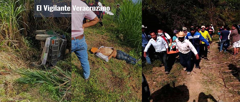 muere una persona tras accidente en zongolica
