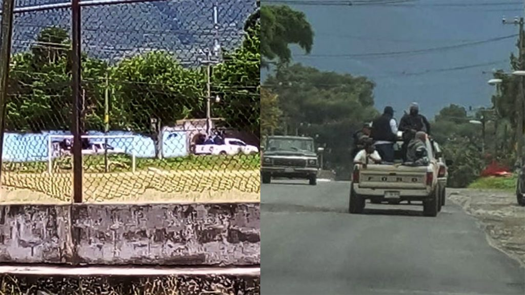 civiles fuertemente armados en acultzingo