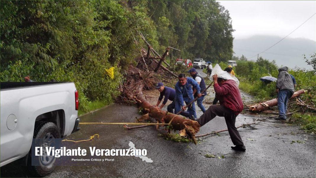 deslaves y derrumbes bloquean caminos en zongolica