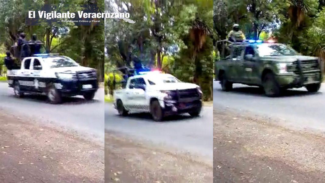 fuerte movilización policiaca en acultzingo por civiles armados
