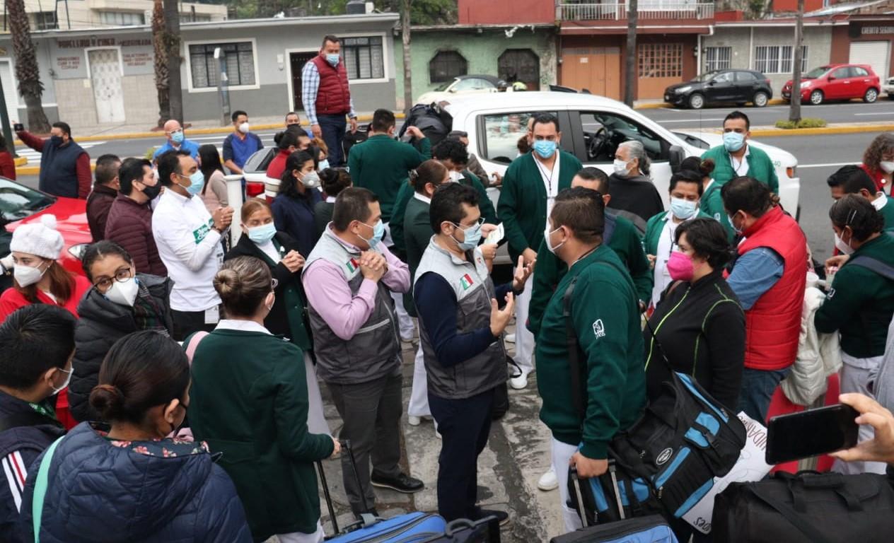 Envía IMSS Veracruz Sur Segunda Brigada de apoyo a la Operación Chapultepec