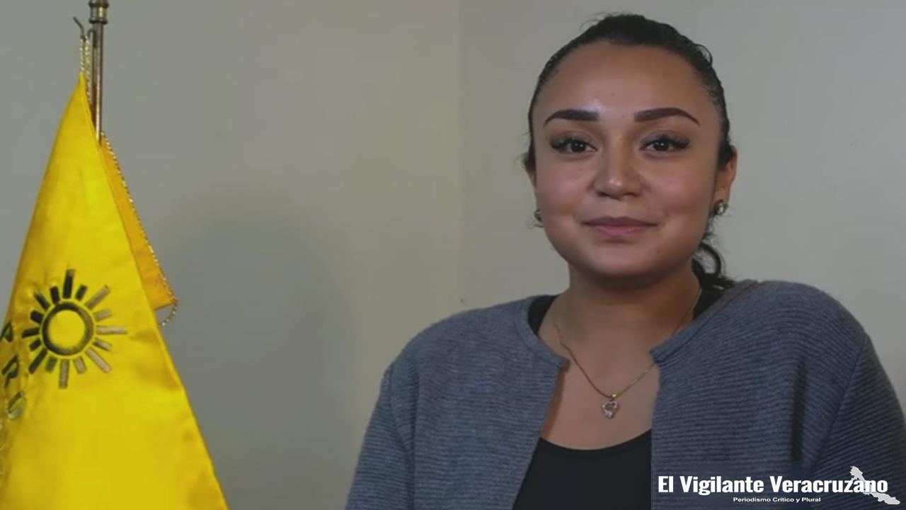Alma Delfina Cano Tezoco, presidenta del PRD en Zongolica