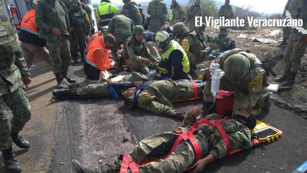 Se accidenta camión del Ejército Mexicano en Cuacnopalan, Puebla03