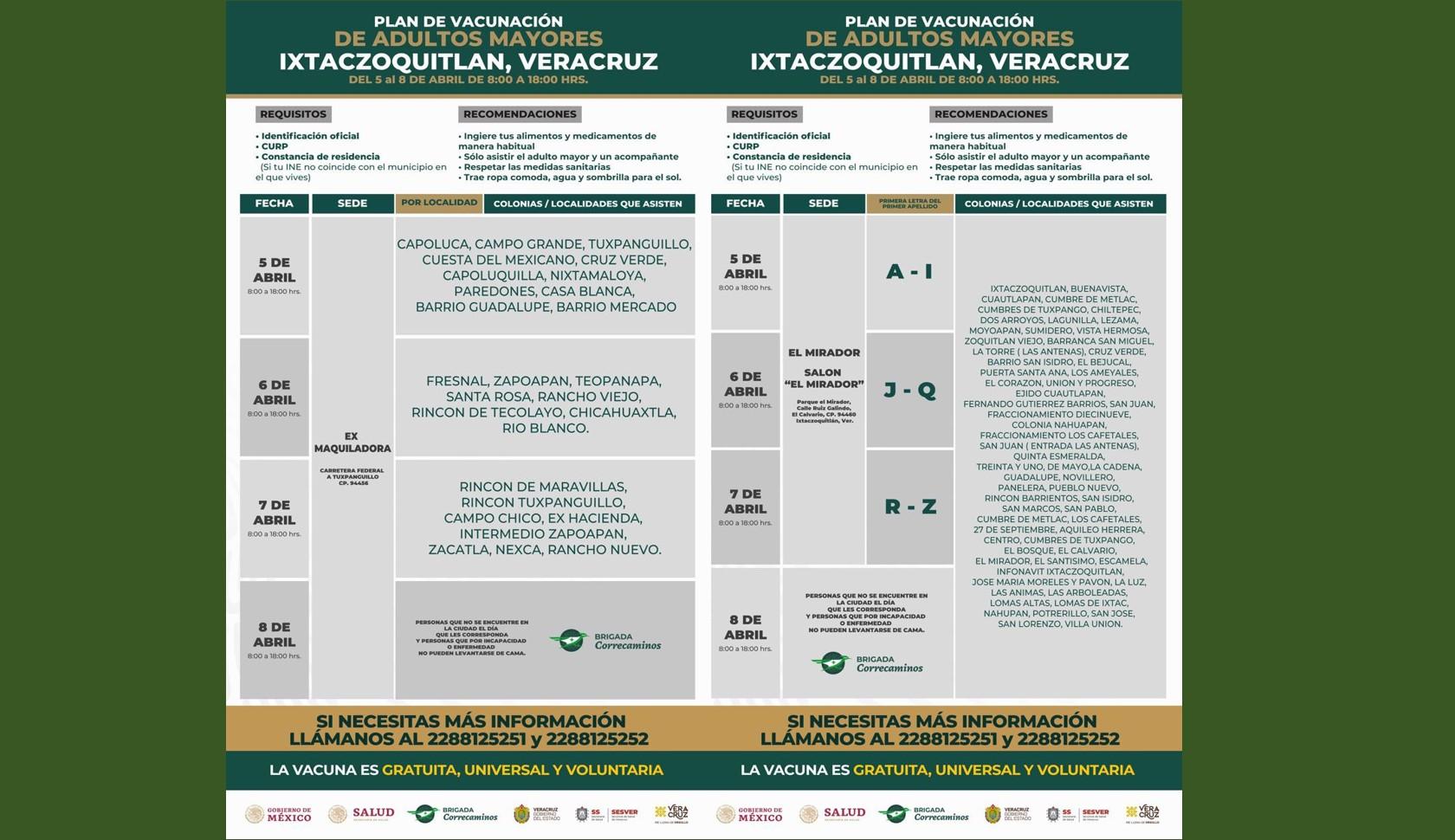 Vacunacion contra el covid en Ixtaczoquitlán
