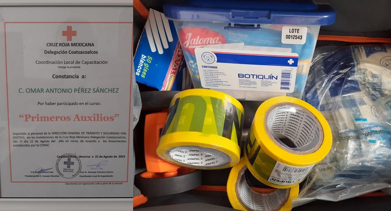 Curso de primeros auxilios para personal de tránsito y vialidad de Río Blanco